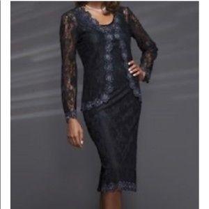 Ashro Allison Beaded Jacket Dress